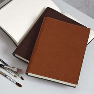 Personalised Leather Lined Notebook