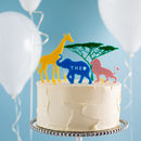 Personalised Safari Cake Topper Scene