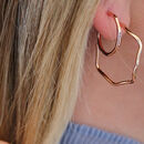 Wavy Hoop Earrings