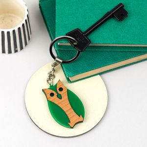 Owl Keyring Or Bird Keychain
