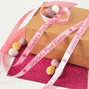 Easter 10mm Personalised Printed Ribbon