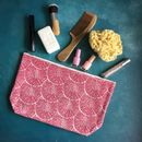 Pink Geometric Wash Bag