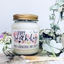 Personalised Handmade Soy Birthday Scented Candle