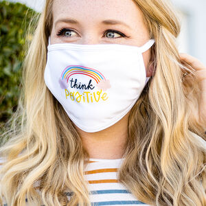 Charity 'Think Positive' Rainbow Positivity Face Mask