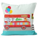 Personalised Animal Bus Cushion