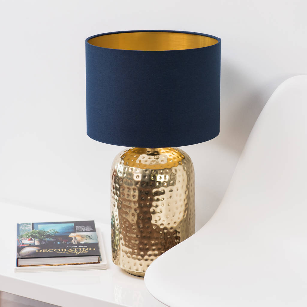 Brushed Gold Lined Lamp Shade Choice Of Colours