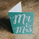 Mr And Mrs Wedding Congratulations Card