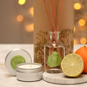 Organic Mini Candle And Reed Diffuser