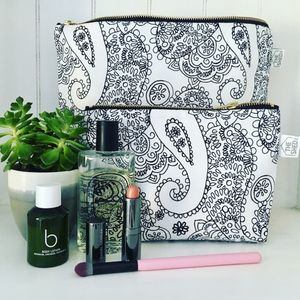 Mono Cotswold Paisley Wash Bag - make-up & wash bags
