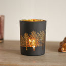 Christmas Woodland Black And Copper Hurricane