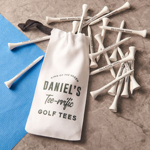 Personalised Golf Tees And Bag - gifts under £25