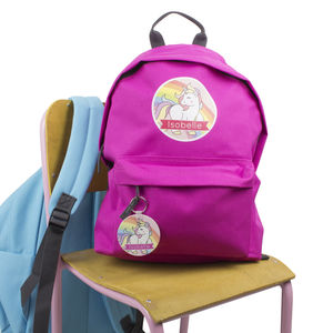 Personalised Unicorn Children's Backpack School Bag