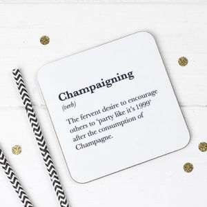 Funny Champagne Coaster - tableware