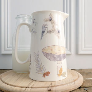 Bone China Toadstool Design Serving Jug