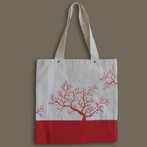 Handpainted Corals On A Bag