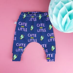 'Cute And Little' Print Baby And Toddler Leggings