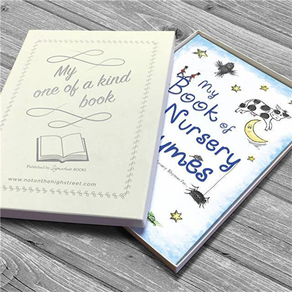 Personalised Gift Boxed Book Of Nursery Rhymes