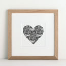 Love Heart Couples Names Anniversary art print