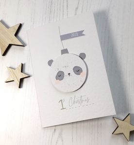 Panda 1st Christmas Card - cards