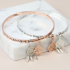 'My Favourite Person' Meaningful Quote Bangle - bracelets & bangles