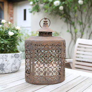 Vintage Style Oval Filigree Lantern - lights & lanterns
