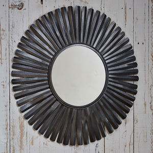 Fair Trade Amisha Feather Mirror - bedroom