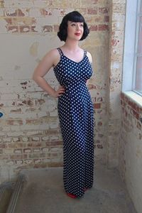1940's Authentic Inspired 'Charlotte' Jumpsuit