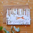 Illustrated 'Wonderful Time Fox' Christmas Card