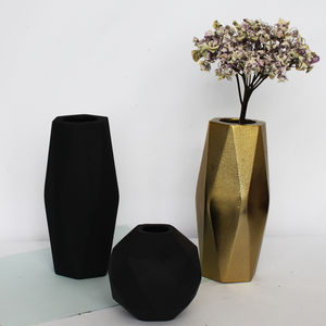 Textured Geometric Vase - dining room