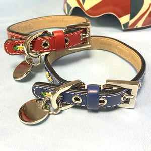 Edelweiss Leather Flower Dog Collar - dogs