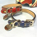 Edelweiss Leather Flower Dog Collar