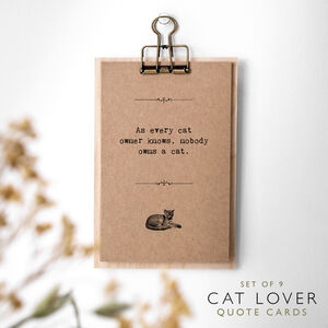 Cat Lover Gift Quotes Cards