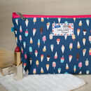 Ice Cream Ice Lolly Gift Makeup Toiletry Wash Bag