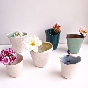 Handmade Small Ceramic Flower Vases Many Colours - vases