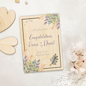 Personalised Congratulations Card Wooden Cutouts
