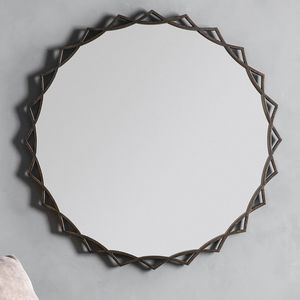 Bronze Sunflower Wall Mirror
