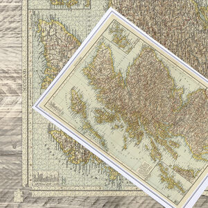 Antique Map Puzzle Scotland And Orkney Islands