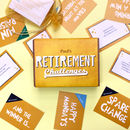 Personalised Retirement Gift Challenges Game