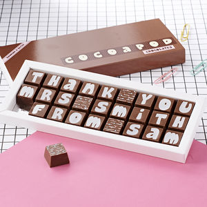 Personalised Thank You Chocolates For Teachers - under £25