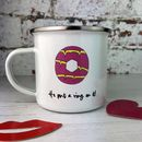 Engagement Enamel Mug 'He Put A Ring On It'