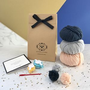 Make Your Own Beginner Pompom Decorations Kit - sewing & knitting
