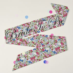 Retro Floral Personalised Hen Party Sash