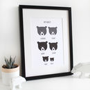 Our Family Print, Personalised A4 Bear