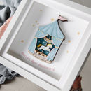 Three D Carousel Christening Frame
