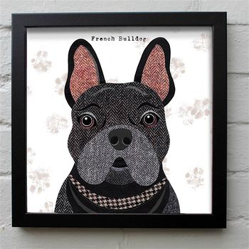 Black French Bulldog Print