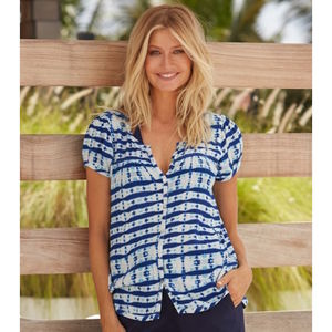 Lisbon Short Sleeved Shirt Mustique Print