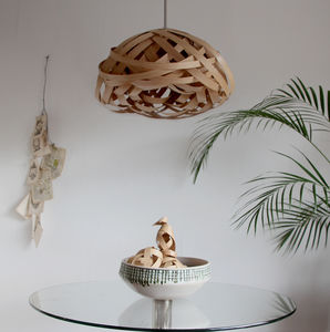 Blossom Knot Wooden Lampshade - lighting