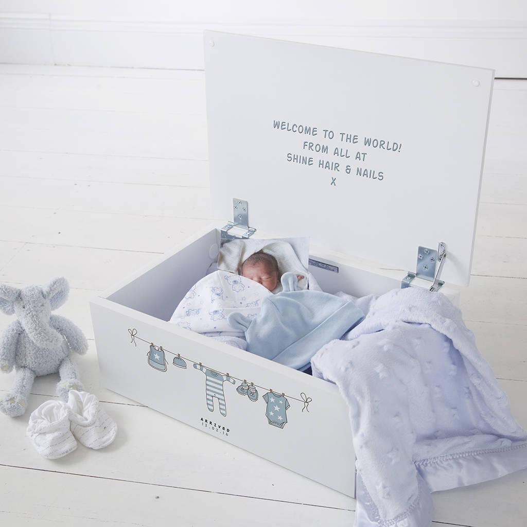 Personalised Baby Boy New Arrival Keepsake Box & personalised baby boy new arrival keepsake box by keepsake gifts ... Aboutintivar.Com