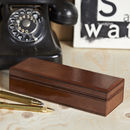 Leather Oblong Box For Pens