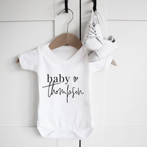 Personalised Baby Name Short Sleeve Bodysuit - clothing